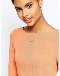 Orelia - Multicolor Relia Chain Wrap Bar Drape Necklace - Lyst