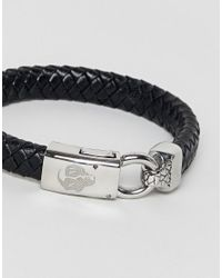 Noose And Monkey - Black Graded Leather Bracelet (+) for Men - Lyst