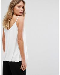 Mango - White Scoop Front Cami Top - Lyst