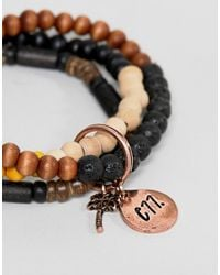 Classics 77 - Brown Beaded Bracelets In 3 Pack for Men - Lyst