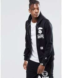 b59105794d1 Lyst - Aape By A Bathing Ape Zip Up Hoodie in Black for Men