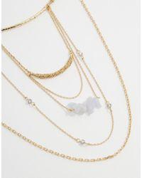 Orelia - Metallic Relia Draped Torque Necklace - Lyst