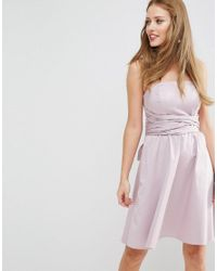 ASOS | Purple Wedding Structured Mini Dress With Bow Detail | Lyst
