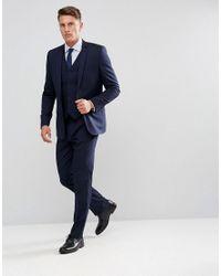 ASOS - Blue Design Slim Suit Jacket In Navy for Men - Lyst