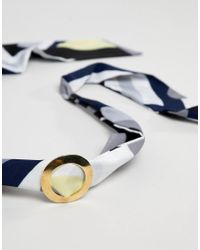 ASOS DESIGN - Multicolor Geo Print Open Circle Headband - Lyst