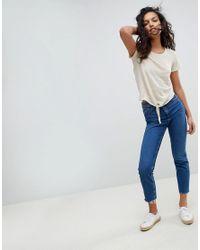 Vero Moda - Multicolor Tie Front T-shirt - Lyst