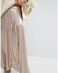 Free People - Multicolor Catch The Wind Metallic Skirt - Lyst