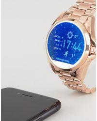 Michael Kors - Metallic Mkt5004 Access Rose Gold Bradshaw Smart Watch - Lyst