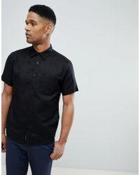 Bellfield - Short Sleeve Shirt In Black for Men - Lyst