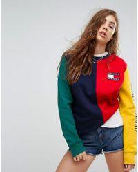 f2f42529abcdda Tommy Hilfiger. Women s Tommy Jeans 90s Capsule Colourblock Sweatshirt