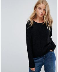 ONLY - Blue Geena Knit Sweater - Lyst