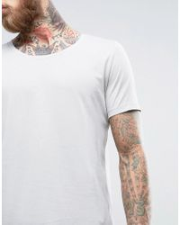 ASOS - T-shirt In Gray With Scoop Neck for Men - Lyst