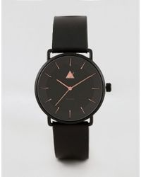 ASOS - Asos Plus Watch In Black With Rose Gold Highlights for Men - Lyst