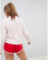 New Look - Pink Heartbreaker Sweat Pyjama Short Set - Lyst