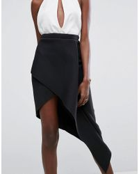 ASOS - Black Origami Rib Pencil Skirt - Lyst