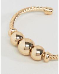 ASOS - Metallic Statement Ball Cuff Bracelet - Lyst