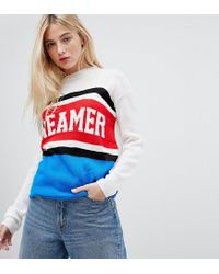 Daisy Street - Multicolor Jumper With Dreamer Design In Colour Block Knit - Lyst