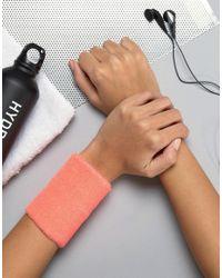 ASOS - Pink Sweatband Bracelet - Lyst