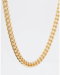 ASOS - Metallic Design Midweight Chain In Gold for Men - Lyst