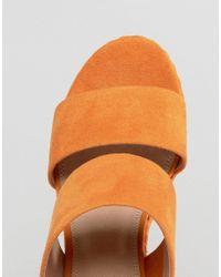 ASOS - Orange Trinidad Plaited Mule Sandals - Lyst