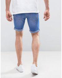Blend - Bright Blue Denim Shorts for Men - Lyst