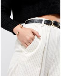 ASOS - Metallic Knot And Ball Cuff Bracelet - Lyst
