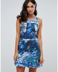 Talulah - Blue Lilac Bloom Printed Mini Dress - Lyst