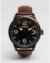 Breda - Stephen Leather Watch In Brown for Men - Lyst