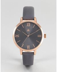 ASOS DESIGN - Multicolor Asos Charcoal And Rose Gold Watch - Lyst