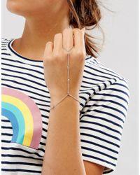 ASOS - Metallic Ball Chain Hand Harness - Lyst