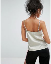 PUMA - Green Exclusive To Asos Strappy Satin Tank Top - Lyst