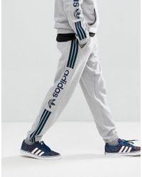 877d021de0d adidas Originals Quarzo Fleece Joggers In Grey Ce1836 in Gray for ...