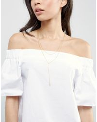 Gorjana - Metallic Gold Plated Double Layered Lariat Necklace - Lyst