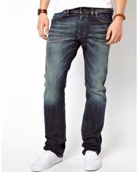 DIESEL | Blue Jeans Safado Straight 885k Dark Gray for Men | Lyst