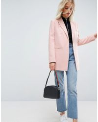 ASOS Pink Tailored Easy Mansy Blazer