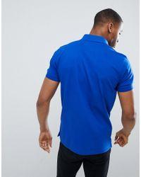 Tommy Hilfiger - Blue Pique Logo Polo Shirt for Men - Lyst
