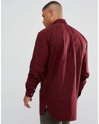 Polo Ralph Lauren | Red Tall Poplin Shirt In Burgundy for Men | Lyst