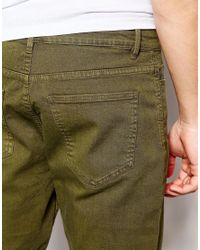New Look Green 5 Pocket Chino Shorts In Olive for men