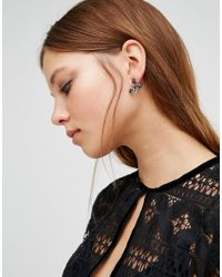 ALDO - Metallic Floral Through & Through Earrings - Lyst