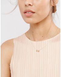 ASOS - Metallic Fine Triple Metal Ball Necklace - Lyst
