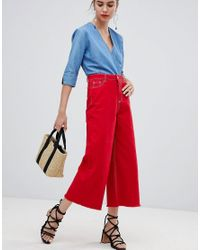 Urban Bliss - Red Cropped Flare - Lyst