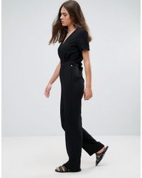 Pepe Jeans - Black Mona Fitted Jumpsuit - Lyst