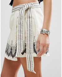 Free People - Multicolor Dream Away Embroidered Wrap Skirt - Lyst