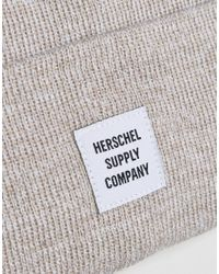 Herschel Supply Co. - Natural Abbott Beanie In Oatmeal for Men - Lyst