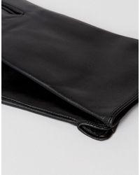 Barney's Originals - Black Real Leather Gloves - Lyst