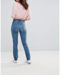 Wrangler - Blue High Waist Slim Cut Jeans - Lyst