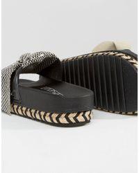 Sixtyseven - Natural Beige Bow Slide Flat Sandals - Lyst