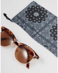 ASOS - Brown Design Retro Sunglasses In Tort for Men - Lyst