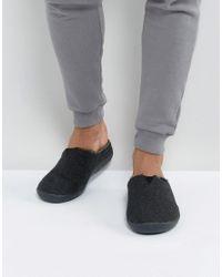 522a453f495 TOMS Berkeley Herringbone Slippers In Gift Box in Black for Men - Lyst