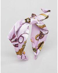 ASOS DESIGN - Multicolor Vintage Style Scarf Print Headband - Lyst